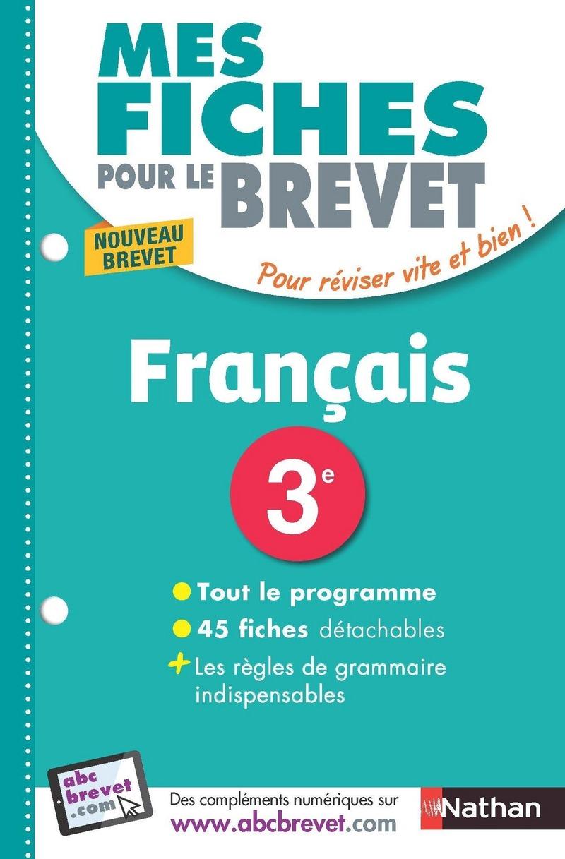 Mes Fiches Brevet Francais 3e Revisions Brevet 2019 Mes