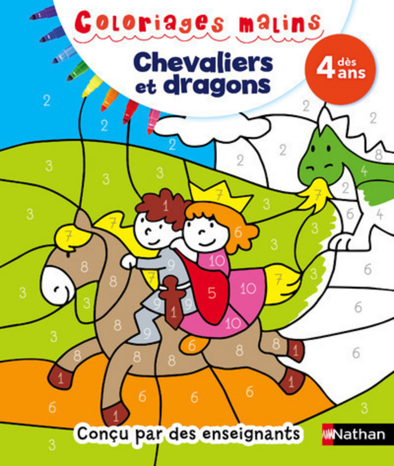 Coloriages malins Chevaliers et dragons