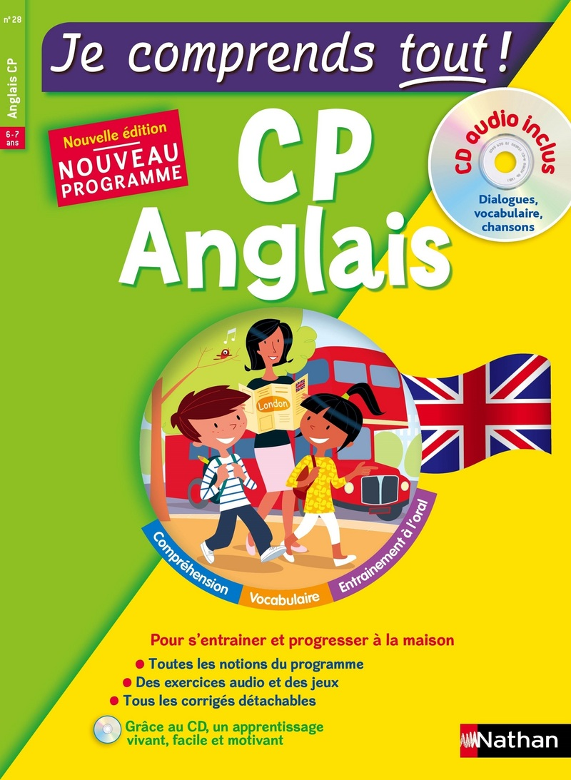 Anglais CP - cours + exercices + audio - Je comprends tout - conforme au programme de CP