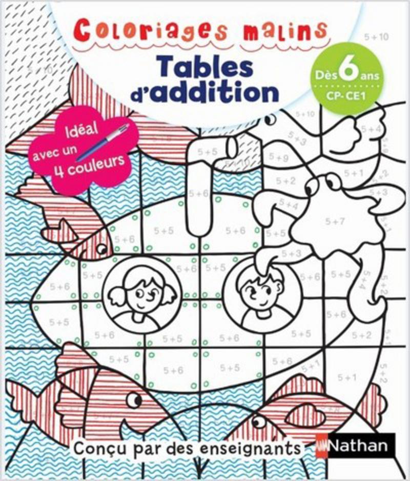 Coloriages Malins Bic Tables D Addition Magiques Cp Ce1 Des