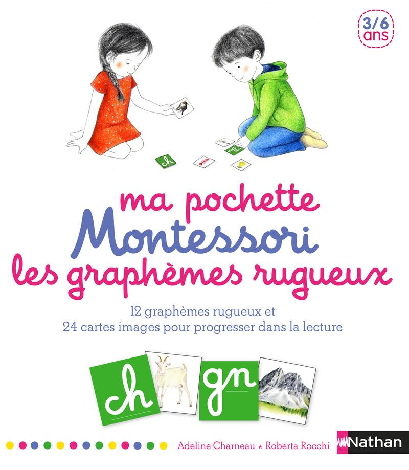 Ma pochette Montessori des graphèmes rugueux - 3/6 ans