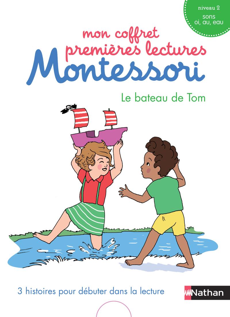 Mon coffret premières lectures Montessori : Le bateau de Tom - Niveau 2 - 4/7 ans -