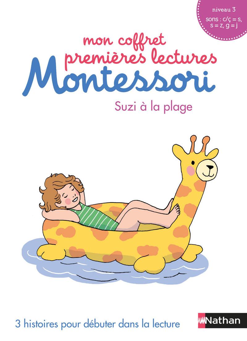 Mon coffret premières lectures Montessori : Suzi à la plage - Niveau 3 - 4/7 ans