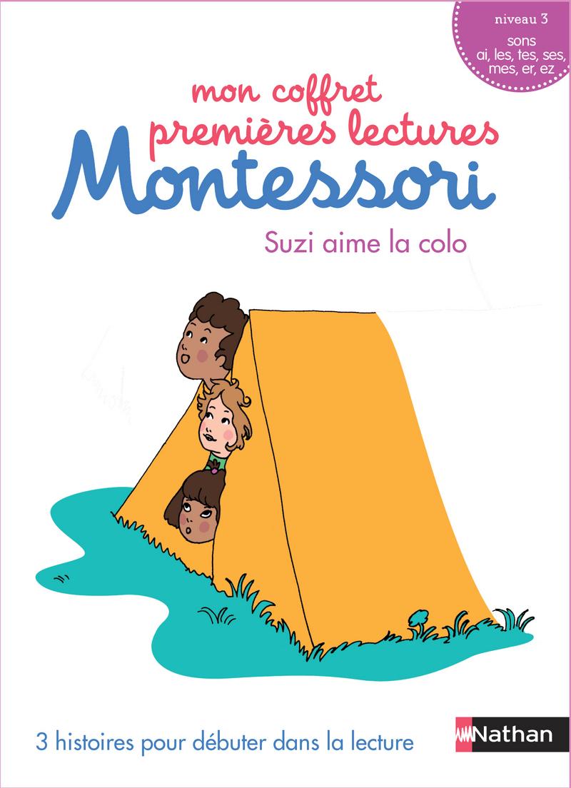 Mon coffret premières lectures Montessori : Suzi aime la colonie - Niveau 3 - 4/7 ans