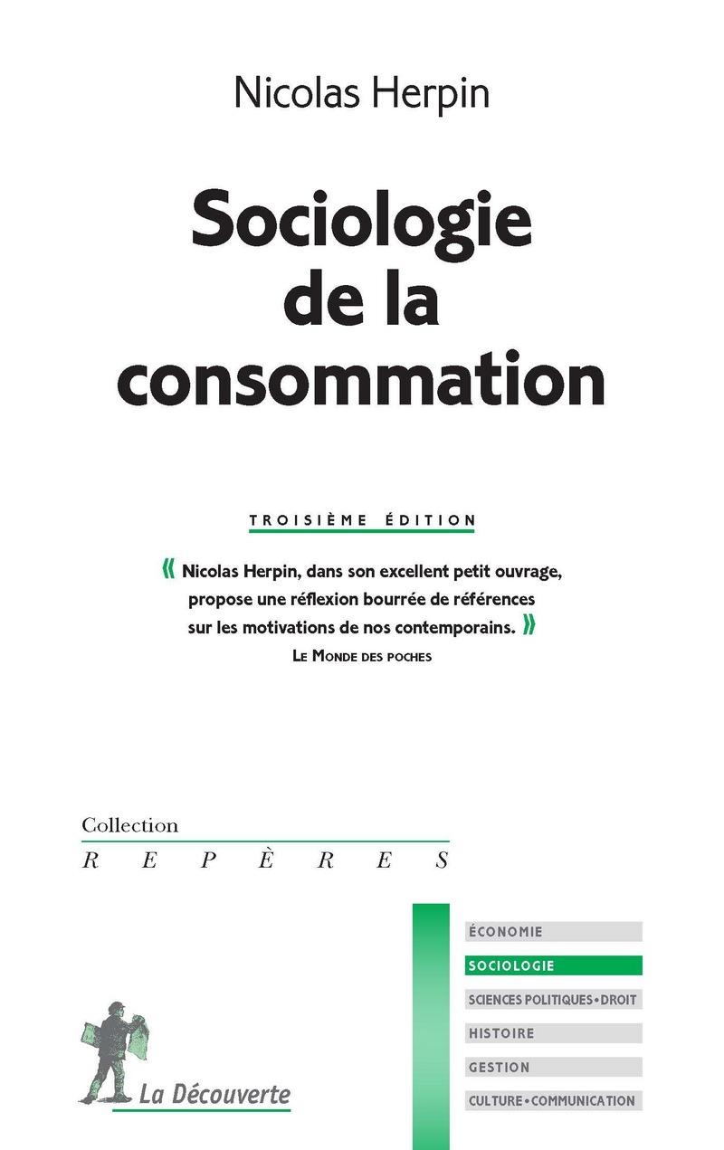 Sociologie de la consommation - Nicolas HERPIN