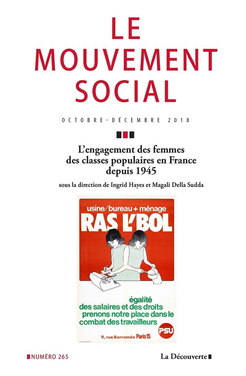 L'engagement des femmes des classes populaires en France depuis 1945 -  REVUE LE MOUVEMENT SOCIAL
