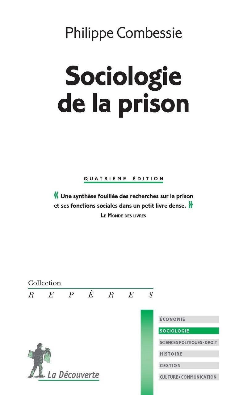 Sociologie de la prison - Philippe COMBESSIE