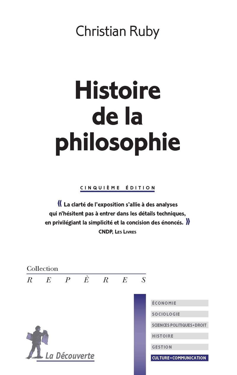 Histoire de la philosophie - Christian RUBY