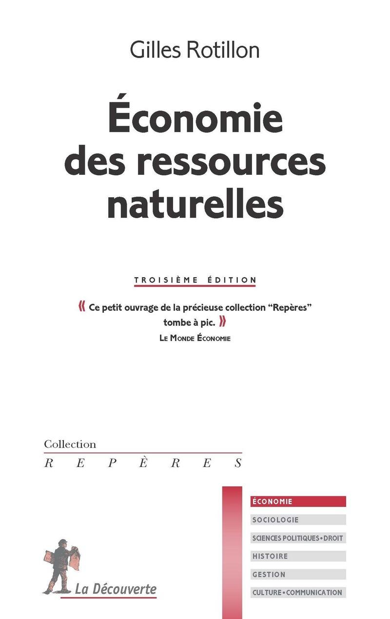Économie des ressources naturelles - Gilles ROTILLON