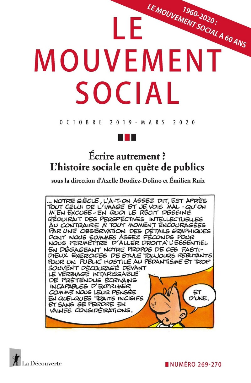 Écrire autrement ? L'histoire sociale en quête de publics -  REVUE LE MOUVEMENT SOCIAL