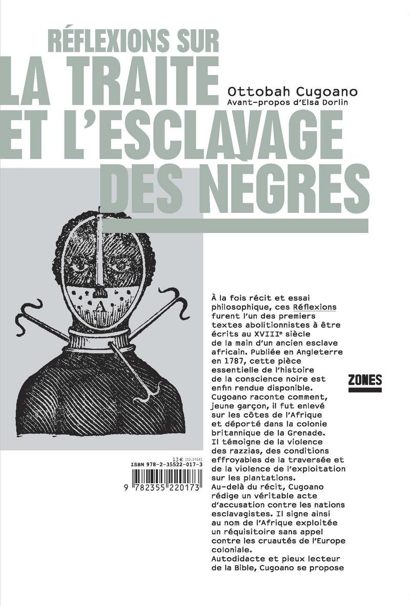 Réflexions sur la traite et l\'esclavage des Nègres