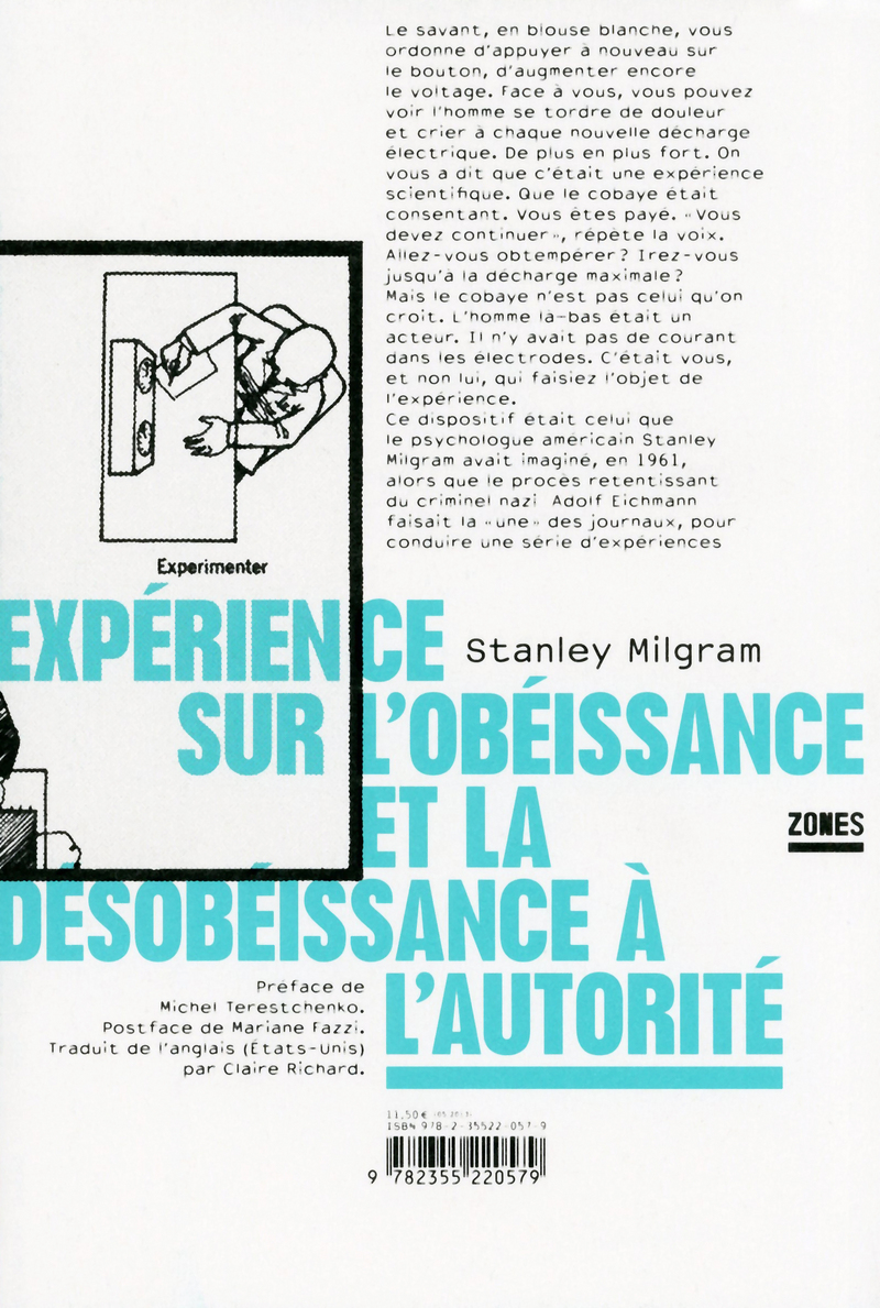 Expérience sur l\'obéissance et la désobéissance à l\'autorité