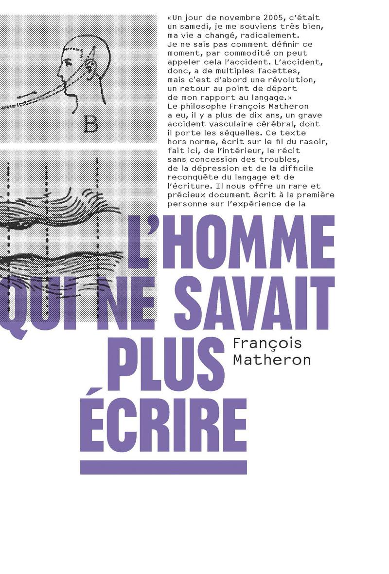 L'homme qui ne savait plus écrire - François MATHERON