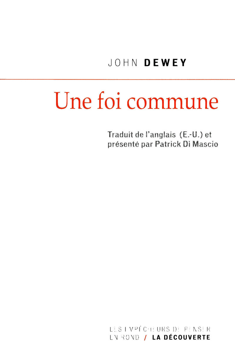 Une foi commune - John DEWEY