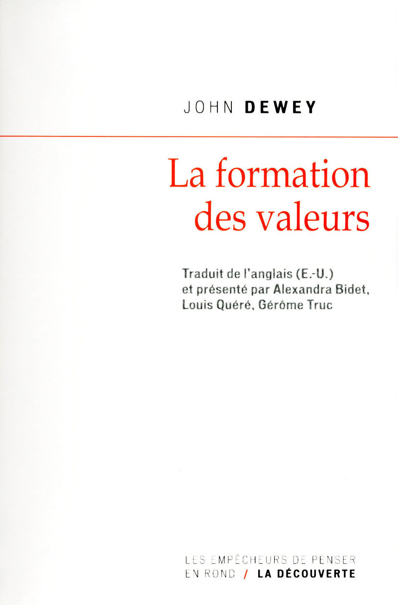 La formation des valeurs - John DEWEY