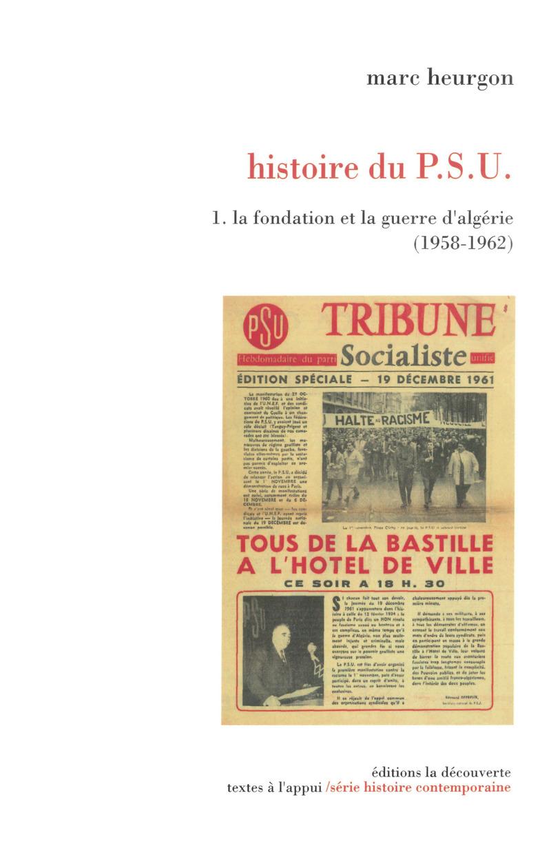 Histoire du P.S.U. - Marc HEURGON