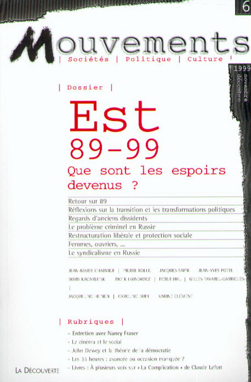 Est 89-99 -  REVUE MOUVEMENTS