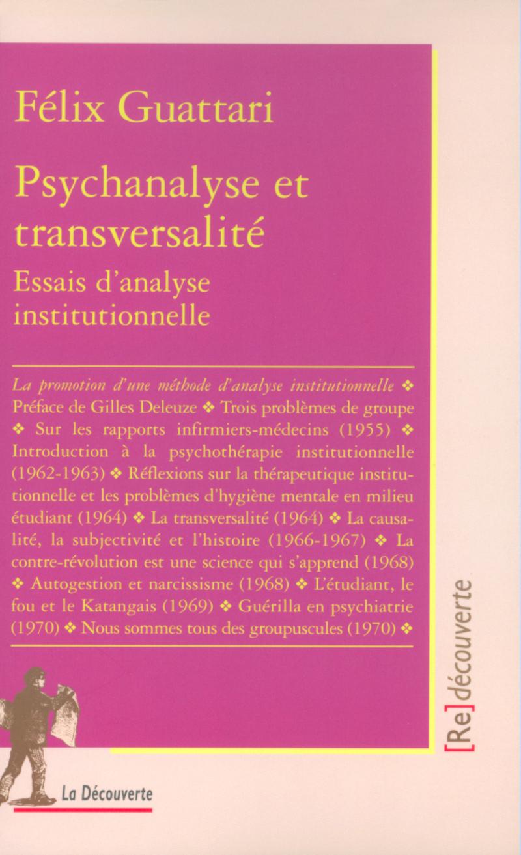 Psychanalyse et transversalité