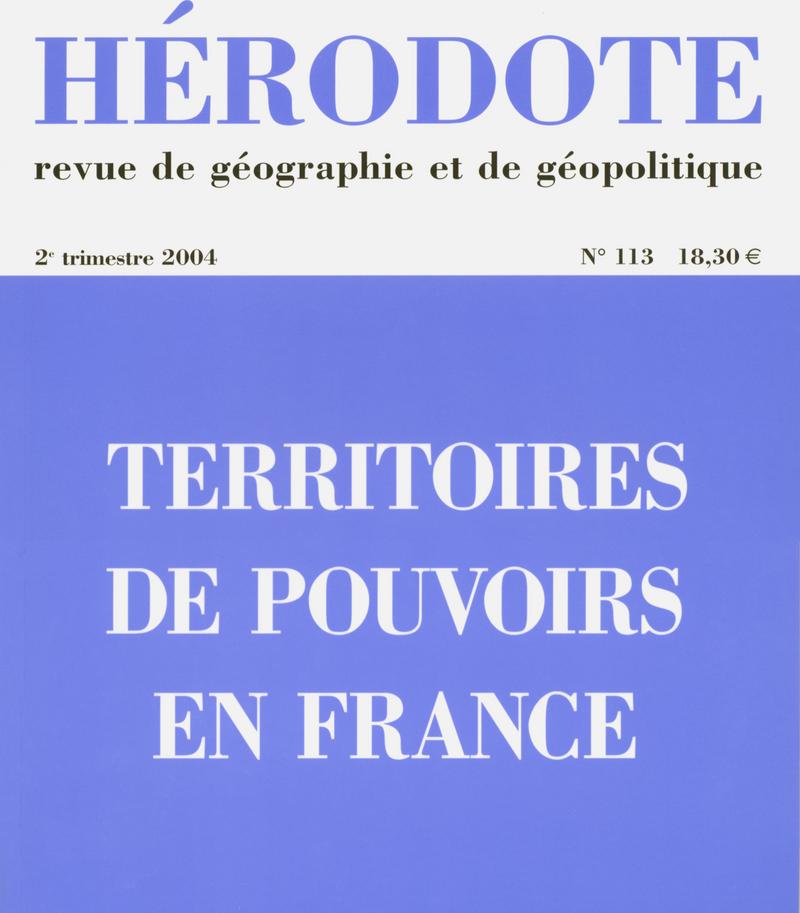Territoires de pouvoirs en France -  REVUE HÉRODOTE