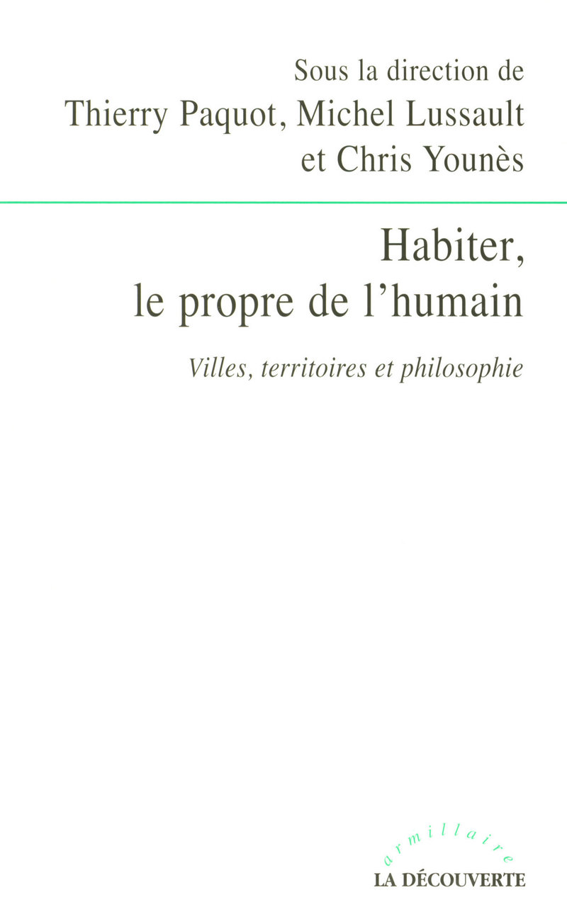 Habiter, le propre de l\'humain