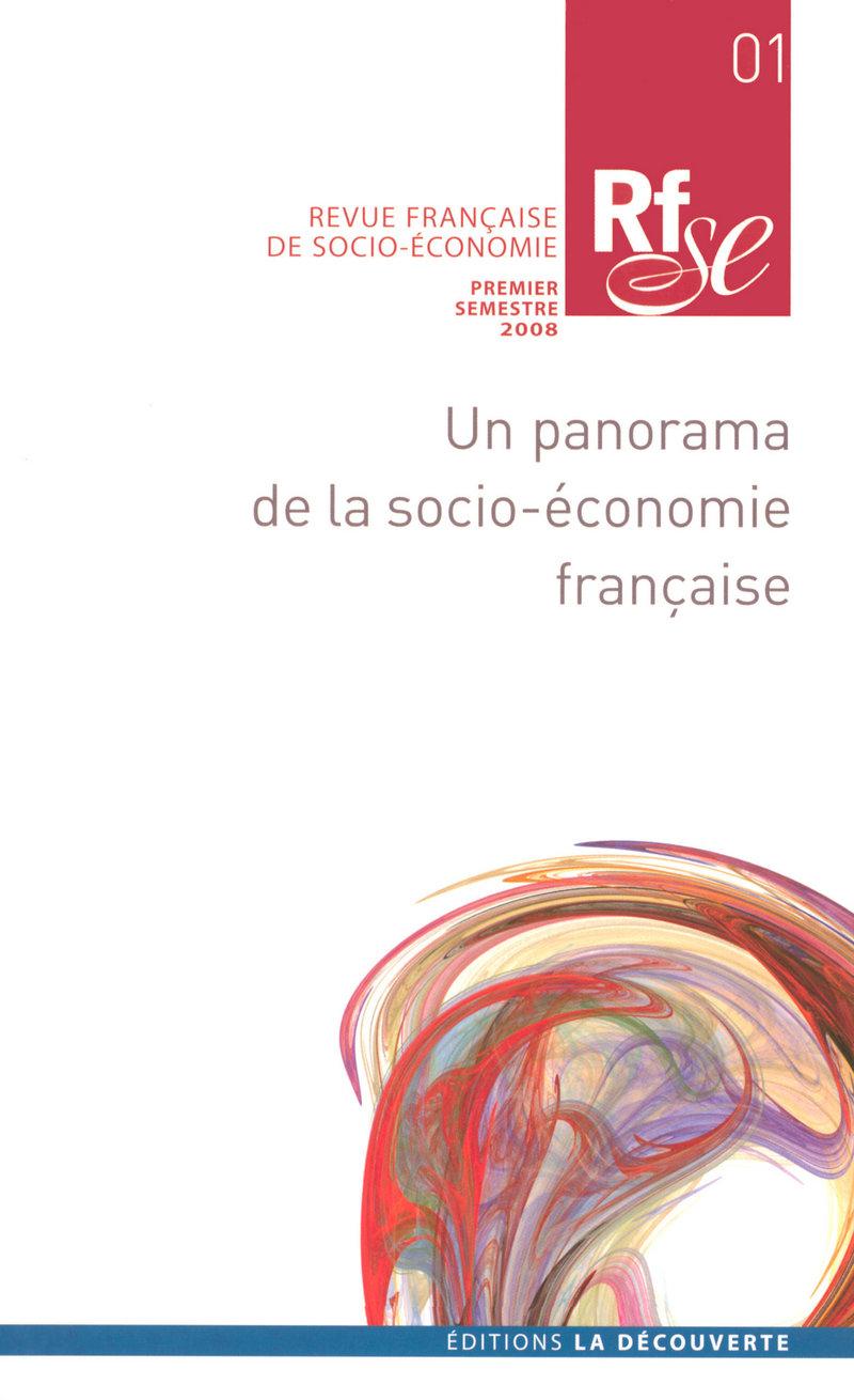 Un panorama de la socio-économie française -  REVUE FRANÇAISE DE SOCIO-ÉCONOMIE