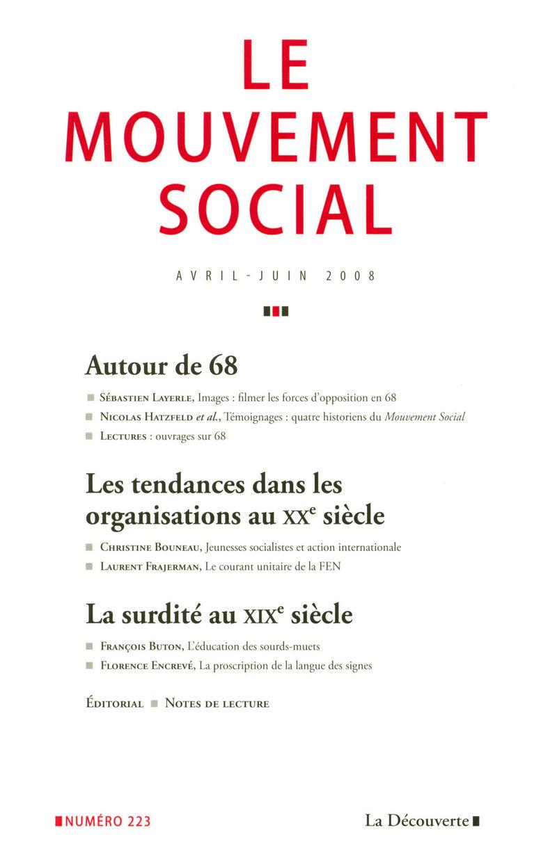 Autour de 68 -  REVUE LE MOUVEMENT SOCIAL
