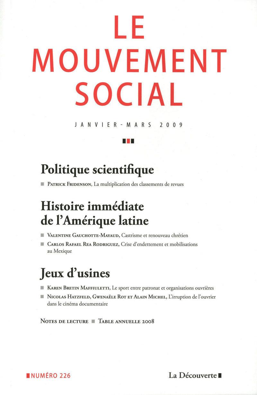 Histoire immédiate de l'Amérique latine -  REVUE LE MOUVEMENT SOCIAL