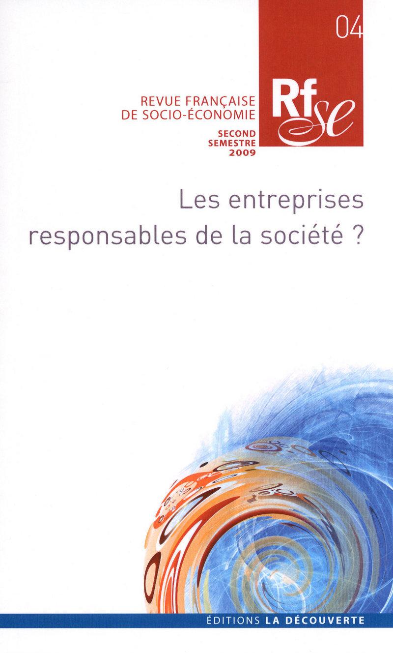 Les entreprises responsables de la société ? -  REVUE FRANÇAISE DE SOCIO-ÉCONOMIE
