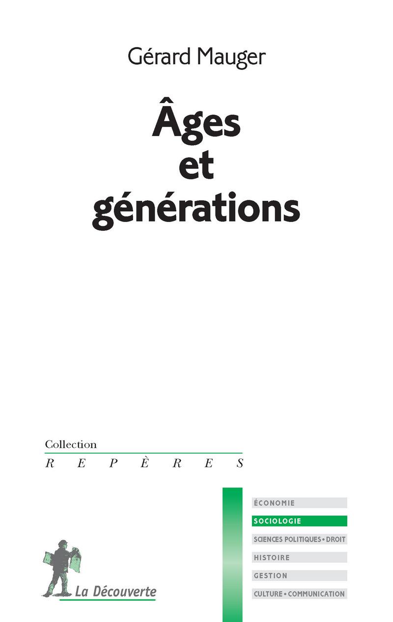 Âges et générations - Gérard MAUGER