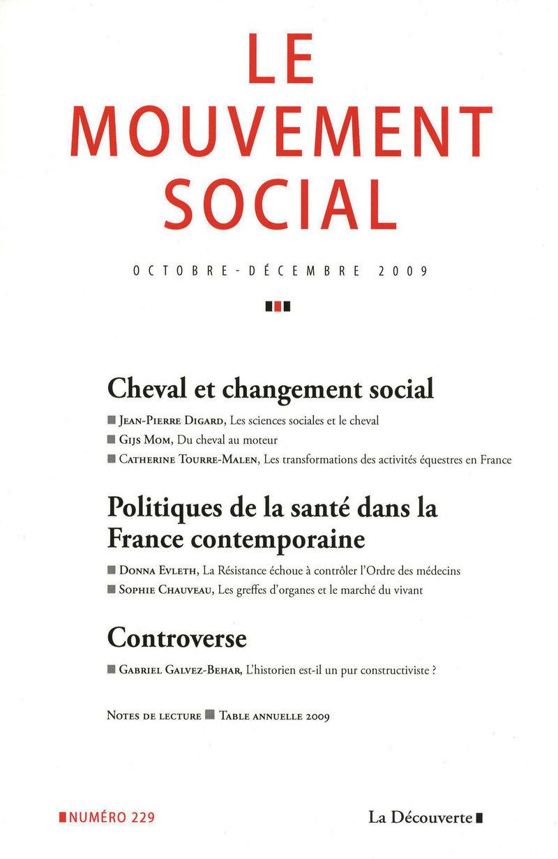 Cheval et changement social -  REVUE LE MOUVEMENT SOCIAL