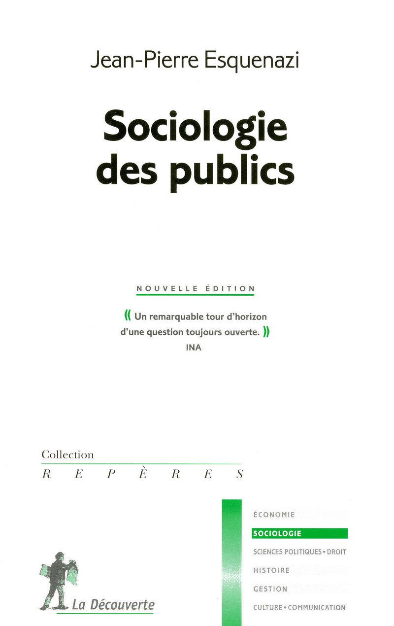 Sociologie des publics - Jean-Pierre ESQUENAZI