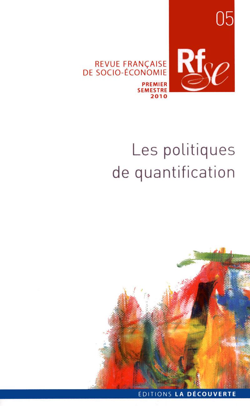 Les politiques de quantification -  REVUE FRANÇAISE DE SOCIO-ÉCONOMIE