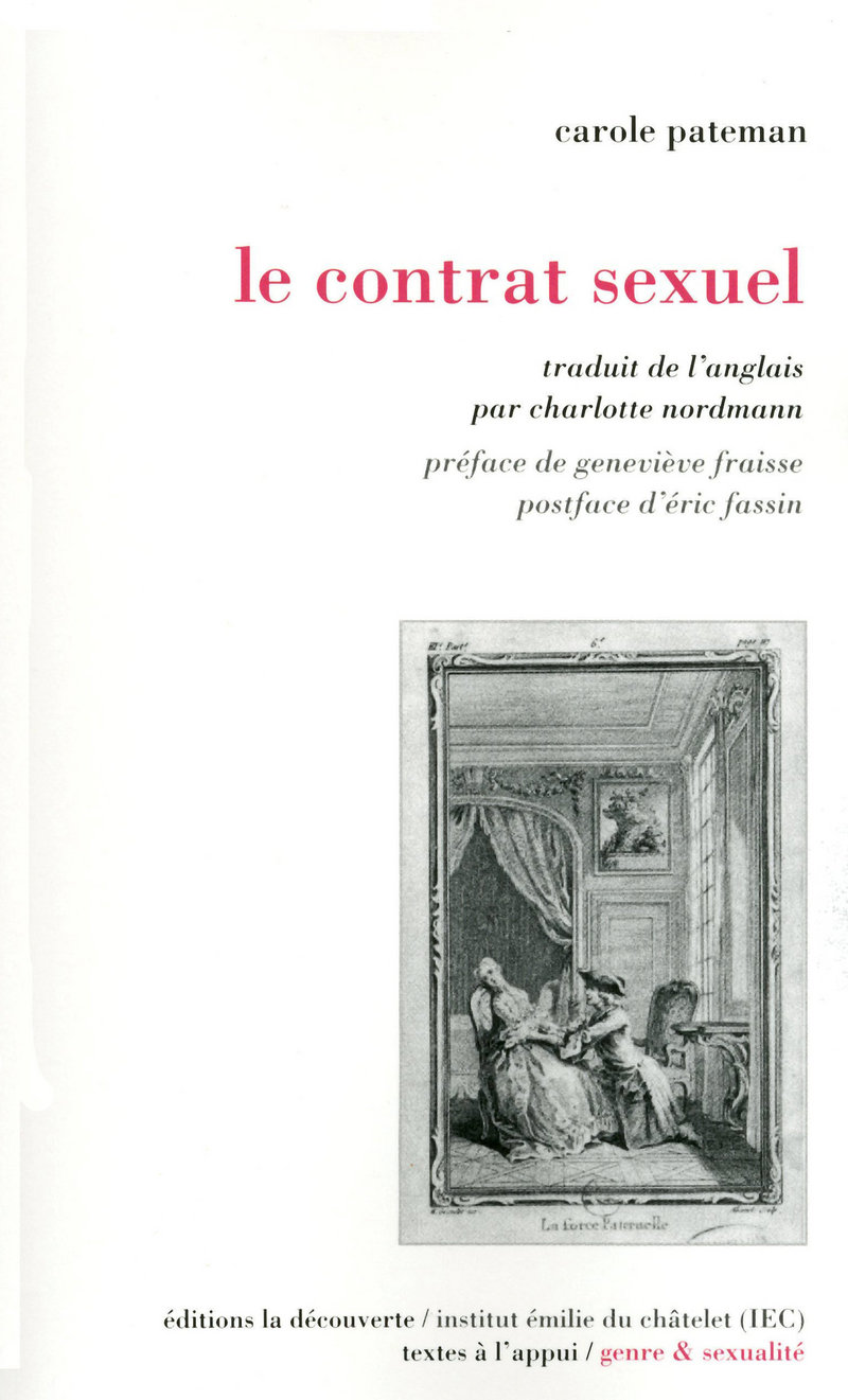 Le contrat sexuel - Carole PATEMAN
