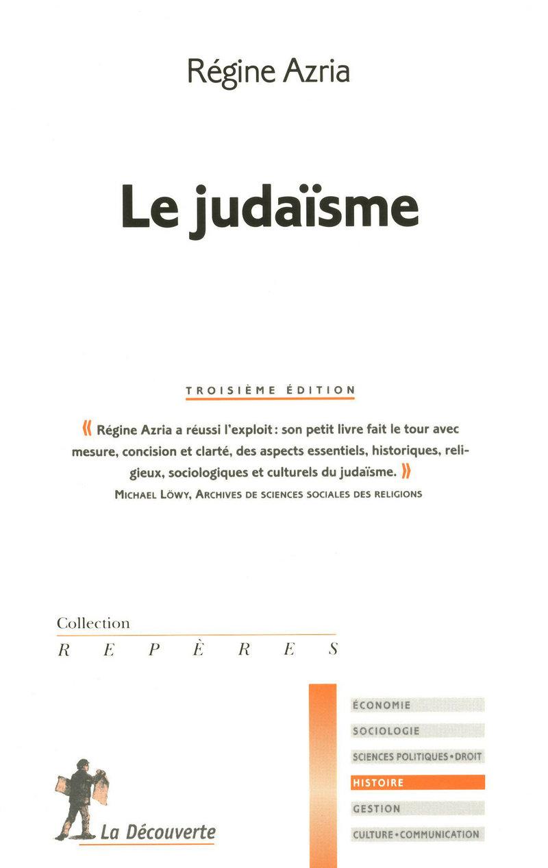 Le judaïsme - Régine AZRIA