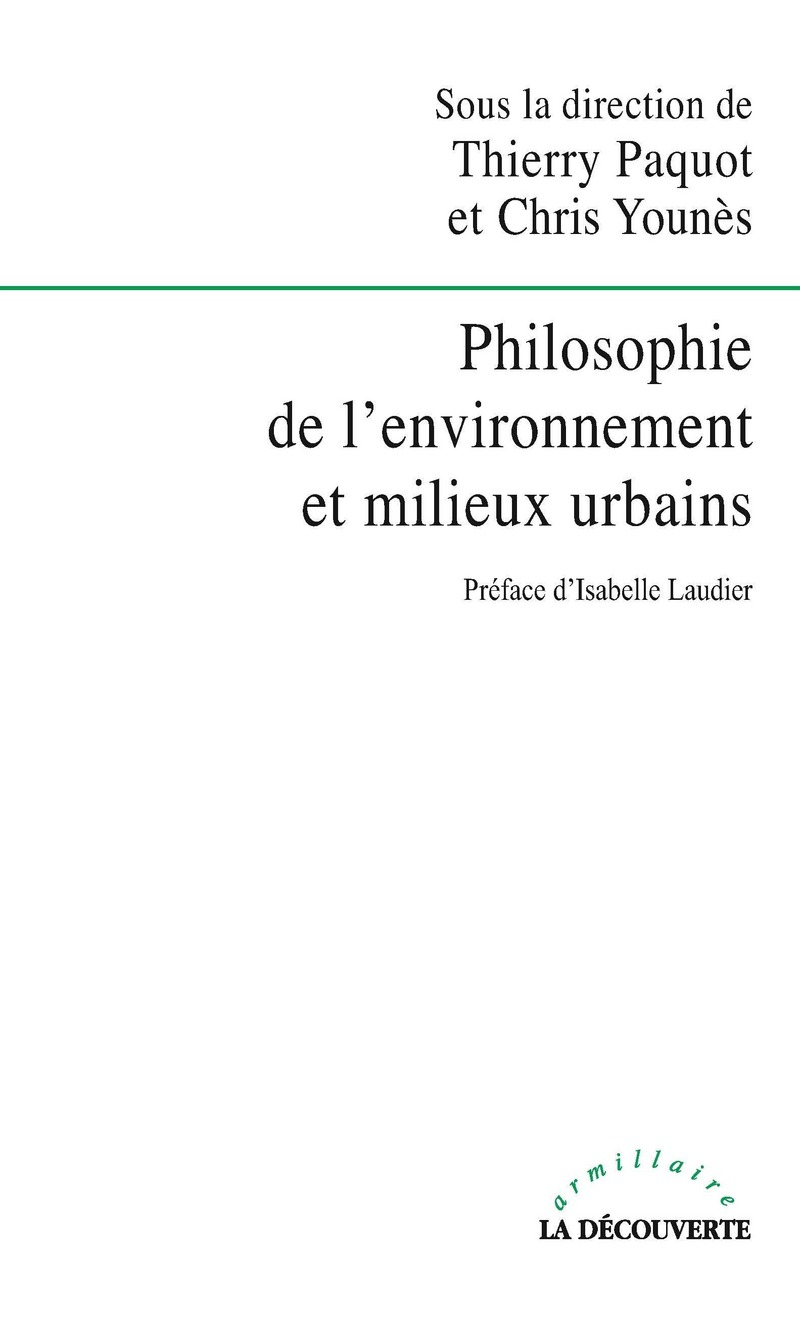 Philosophie de l\'environnement et milieux urbains