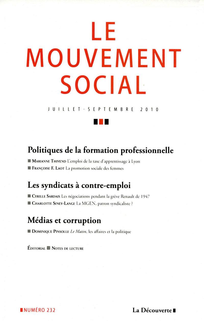 Politiques de la formation professionnelle -  REVUE LE MOUVEMENT SOCIAL