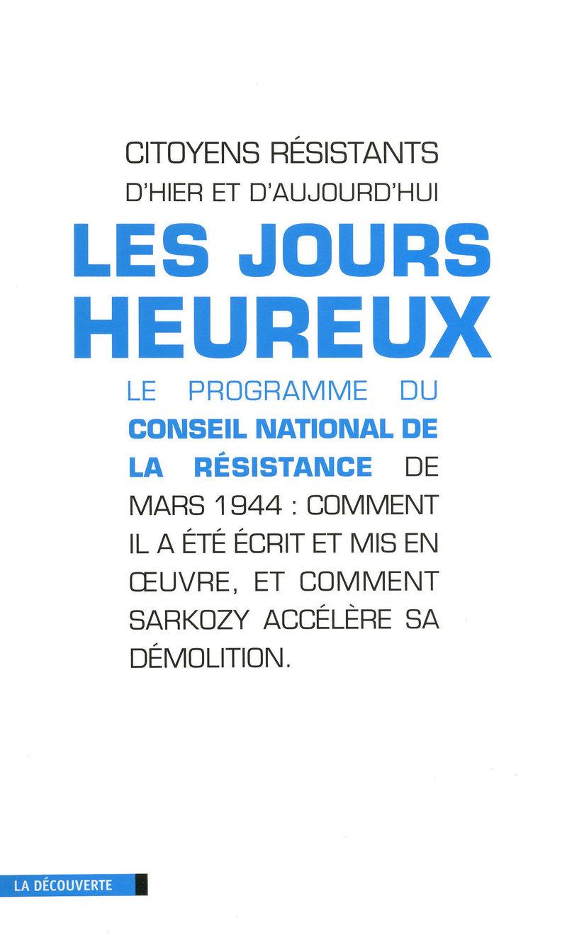 Les jours heureux -  CITOYENS RÉSISTANTS D'HIER ET D'AUJOURD'HUI