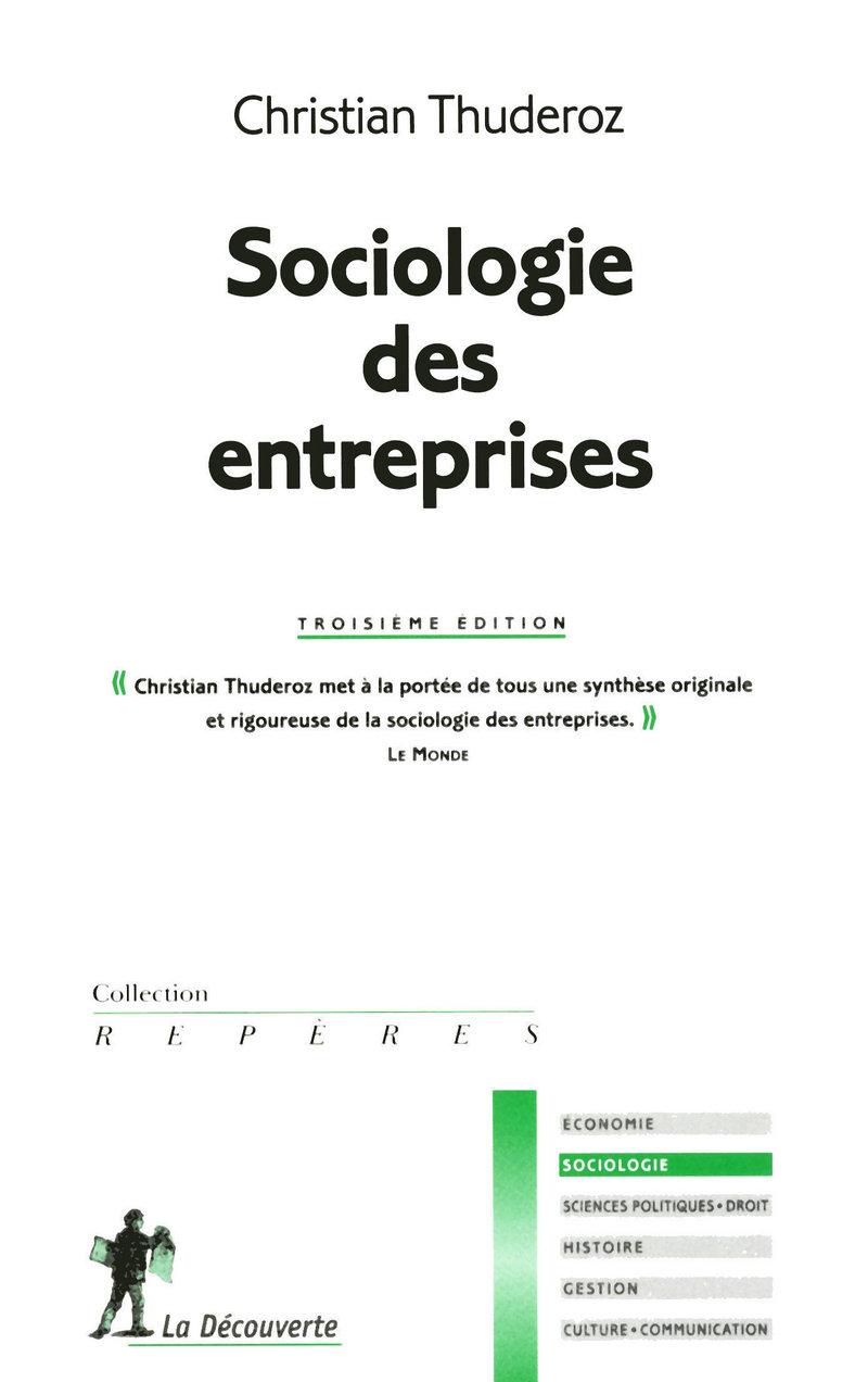 Sociologie des entreprises - Christian THUDEROZ