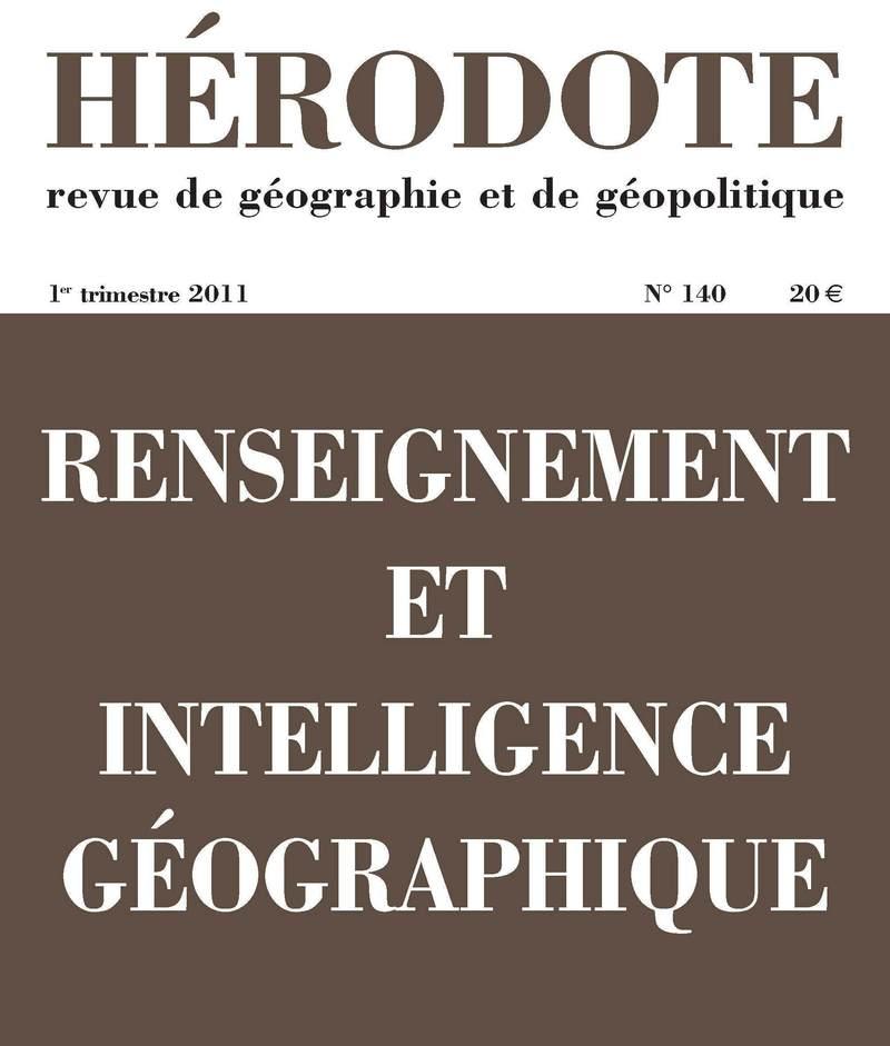 Renseignement et intelligence géographique -  REVUE HÉRODOTE