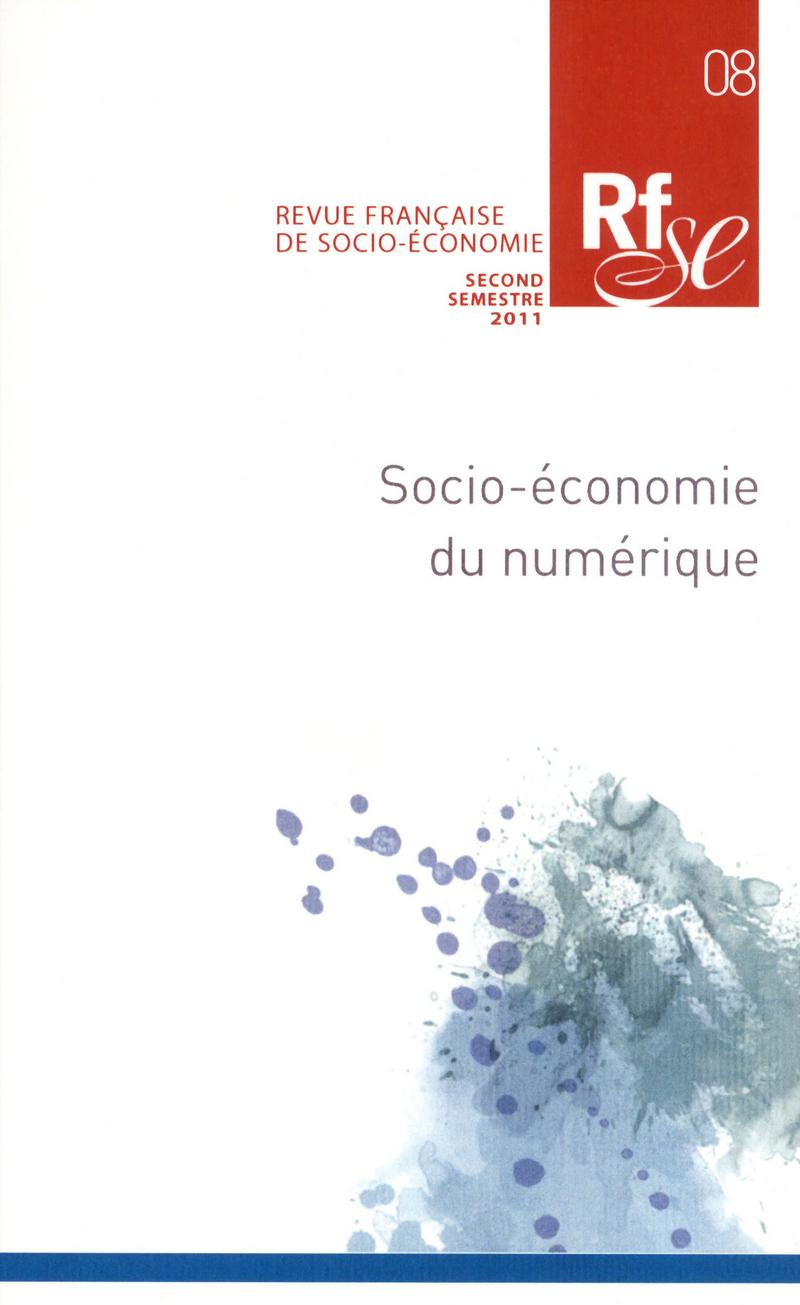 Socio-économie du numérique -  REVUE FRANÇAISE DE SOCIO-ÉCONOMIE