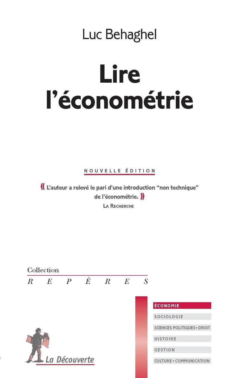 Lire l'économétrie - Luc BEHAGHEL