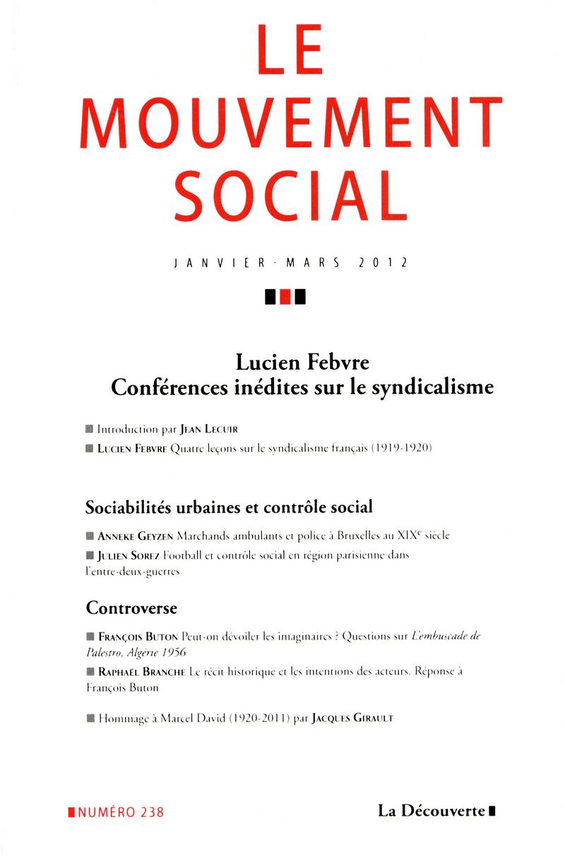 Lucien Febvre   -  REVUE LE MOUVEMENT SOCIAL
