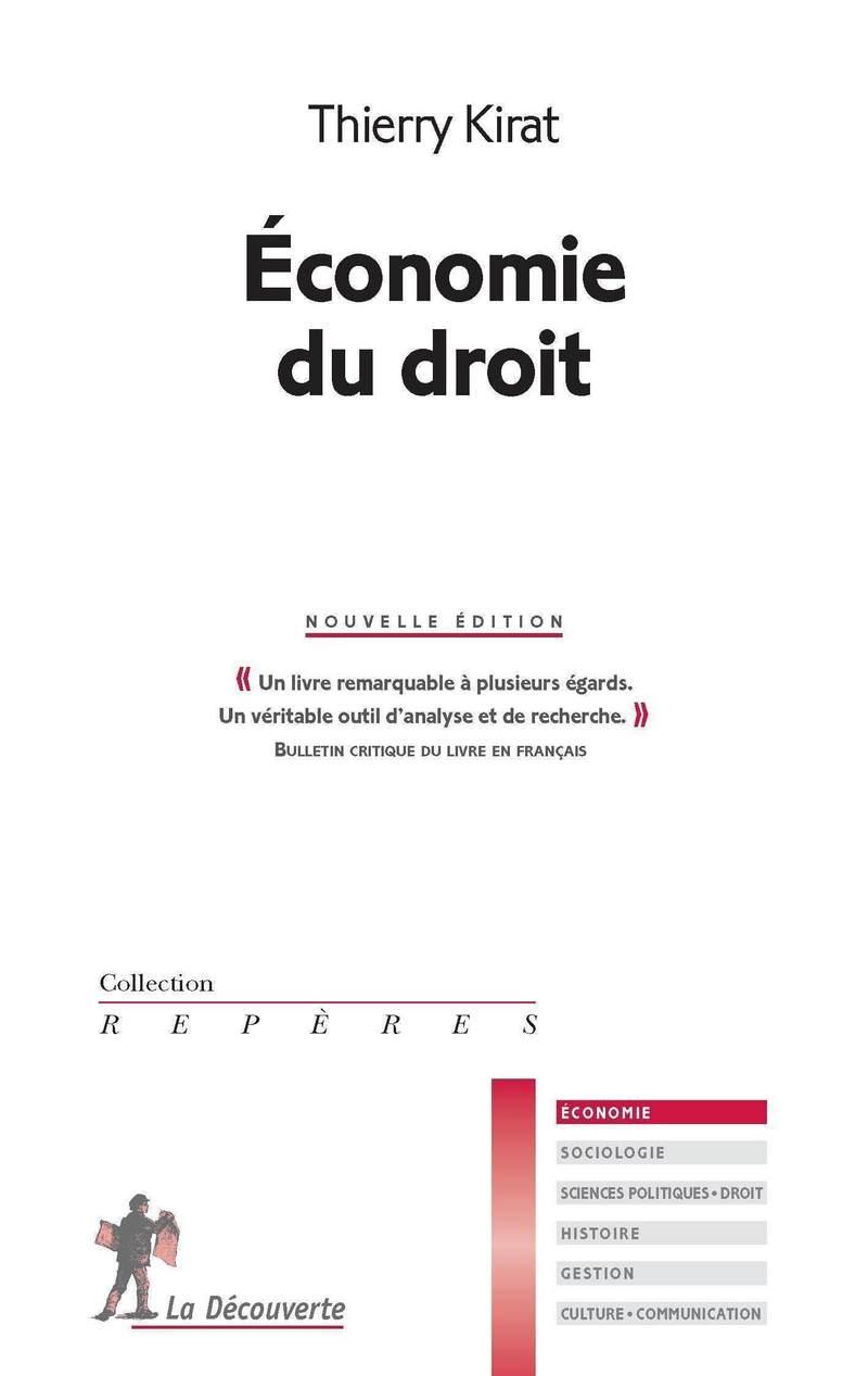 Économie du droit - Thierry KIRAT