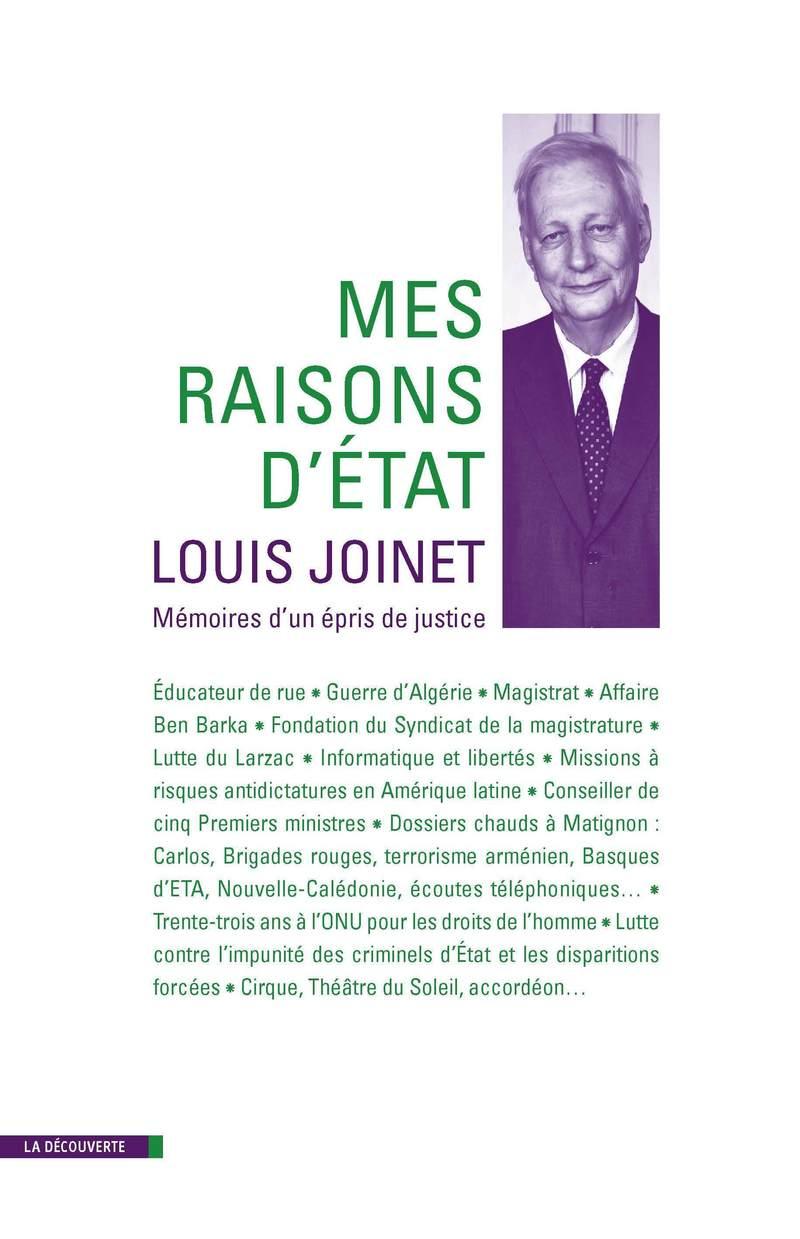 Mes raisons d'État - Louis JOINET