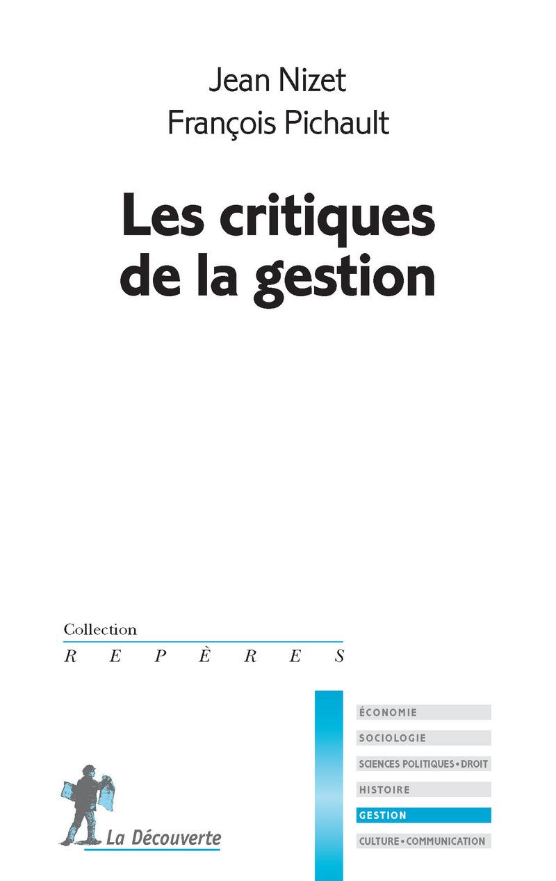 Les critiques de la gestion - Jean NIZET, François PICHAULT