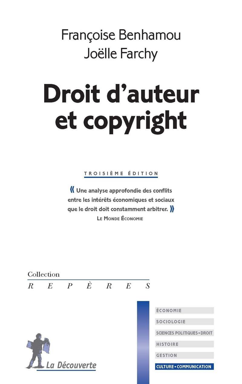 Droit D Auteur Et Copyright Francoise Benhamou Joelle Farchy
