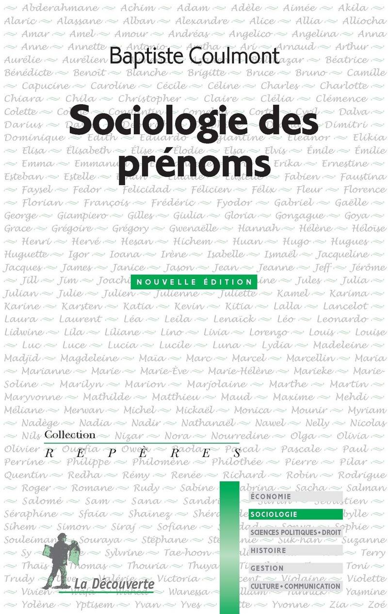 Sociologie des prénoms - Baptiste COULMONT