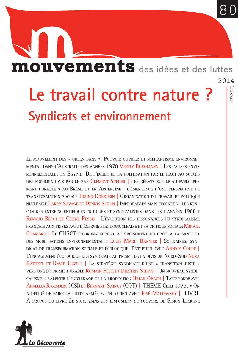 Le travail contre nature ? -  REVUE MOUVEMENTS