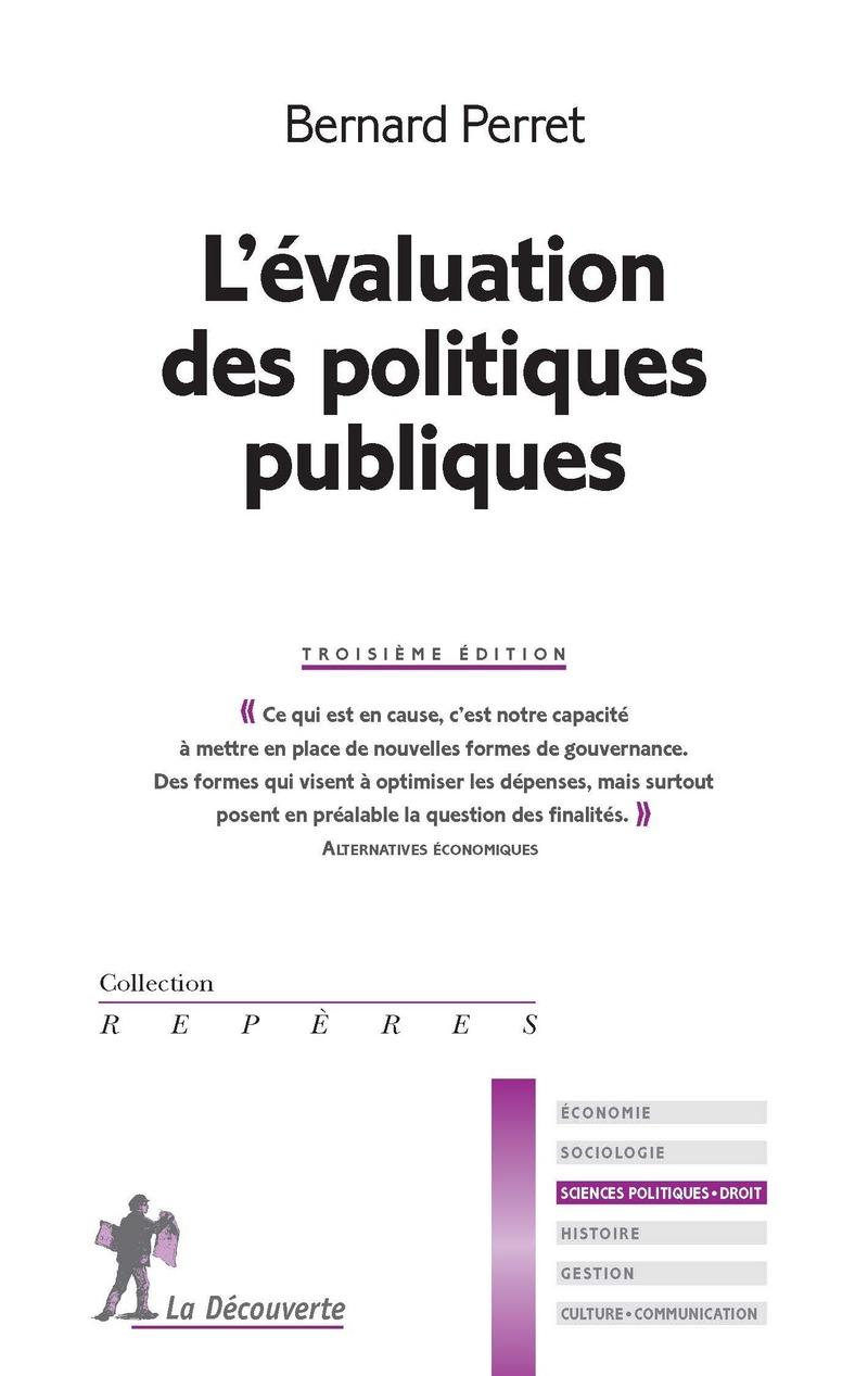L'évaluation des politique publiques - Bernard PERRET