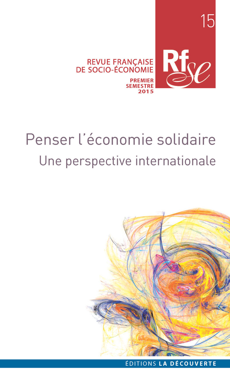 Penser l'économie solidaire -  REVUE FRANÇAISE DE SOCIO-ÉCONOMIE